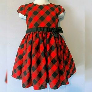 Carter's Plaid Dress 18 month red and black